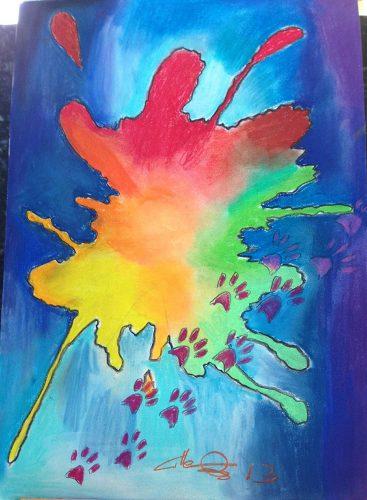 Pastels sur papier 61x38 cm @Crann Piorr'Art 2013