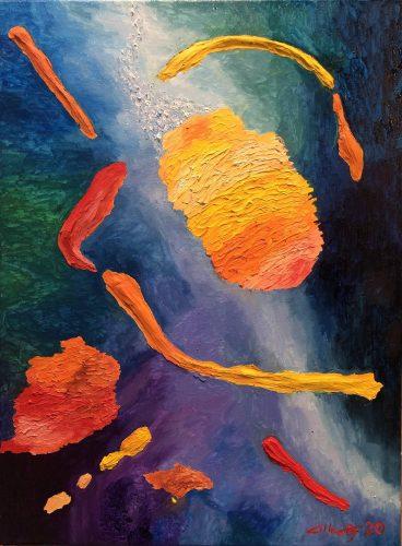 Huile sur toile en lin 60x81 cm @Crann Piorr'Art 2021