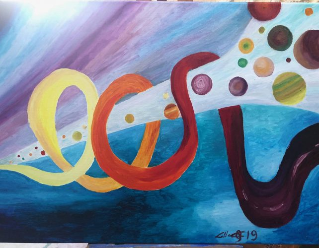 Huile sur toile en lin 81x60 cm @Crann Piorr'Art 2020