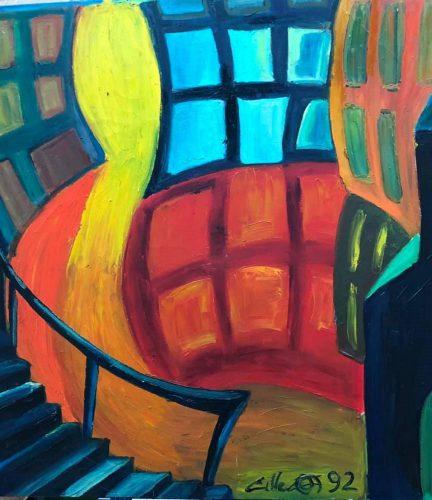 Huile sur toile en lin 115x108 cm @Crann Piorr'Art 1992