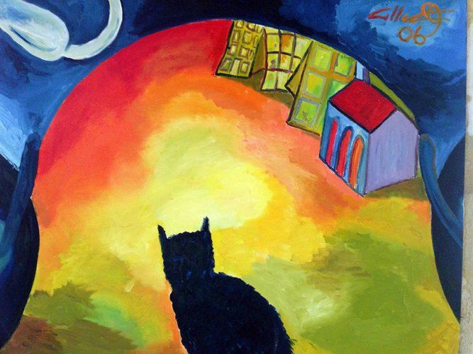 Huile sur toile en lin 81x100 cm @Crann Piorr'Art 2006