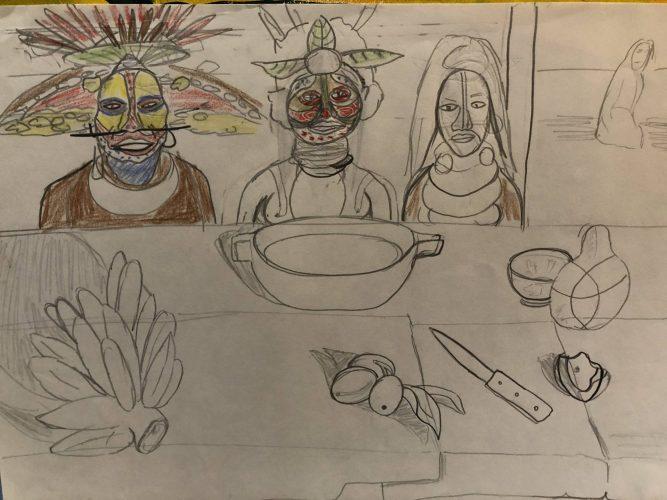 Gauguin Revisited Esquisse