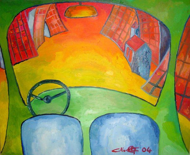 Huile sur toile en lin 73x60 cm @Crann Piorr'Art 2004