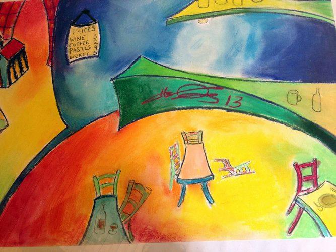 Pastels à l'huile sur papier 61x38 cm @Crann Piorr'Art 2013