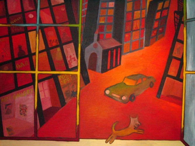 Huile sur bois 160x125 cm @Crann Piorr'Art 1990