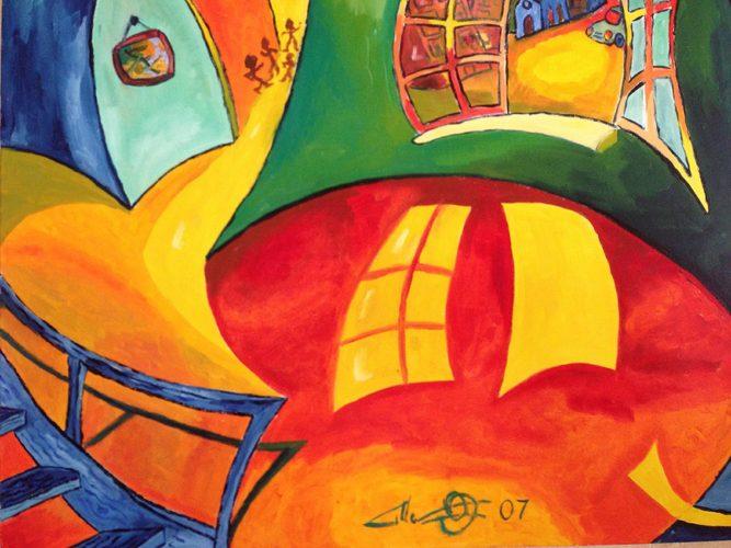 Huile sur toile en lin 81x100 cm @Crann Piorr'Art 2007